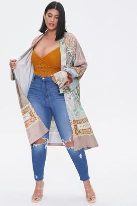Forever 21 Plus Size Alphonse Mucha Kimono