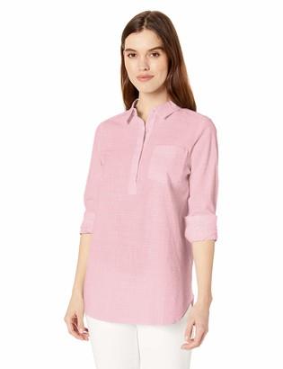 Daily Ritual Amazon Brand Women's Broken-in Cotton Popover Tunic Shirt