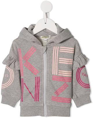 Kenzo Logo Zipped Hoodie