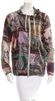 Closed Hooded Windbreaker Jacket w/ Tags