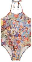 Zimmermann Kids' Lovelorn Floral Halter Swimsuit