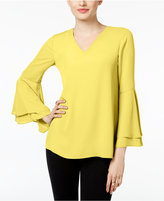 Alfani Petite Bell-Sleeve Blouse, Only at Macy's