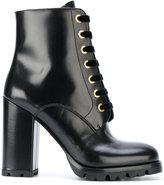 Prada ridged sole lace-up boots