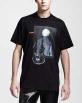 Givenchy Columbian Fit Man & Dog T-Shirt