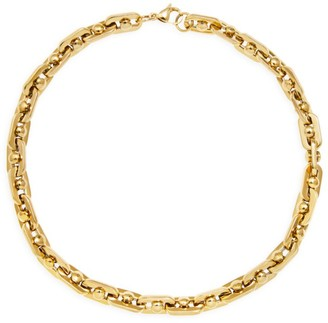 Fallon Armure Goldplated Bolt Chain Collar Necklace