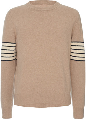 Maison Margiela Striped-Sleeve Wool and Cashmere Sweater