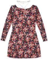 BCX Floral-Print Prairie Dress and Necklace Set, Big Girls (7-16)