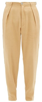Marrakshi Life - High-waisted Pleated Cotton-blend Trousers - Mens - Camel