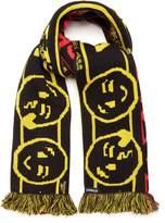 Vetements X Reebok Free Hugs intarsia-knit scarf
