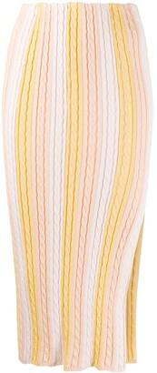 Marco De Vincenzo Front Slit Knitted Skirt
