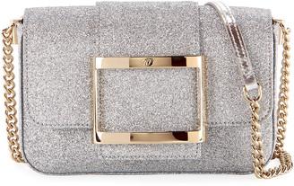 Roger Vivier Tres Micro Glitter Clutch Bag