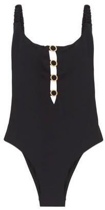 Fisch Choisy Cutout High-leg Swimsuit - Black