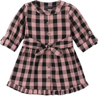 Calvin Klein Little Girl's Tied Check Shirt Dress