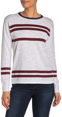 360 Cashmere Andrea Stripe Heathered Long Sleeve T-Shirt