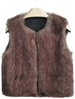Per Unisex Baby Faux Fur Vest Warm Sleeveless Jacket-,L(3-4Y)