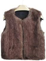 Per Unisex Baby Faux Fur Vest Warm Sleeveless Jacket-,M(2-3Y)
