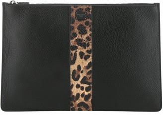 Dolce & Gabbana Animal Print Detail Clutch Bag