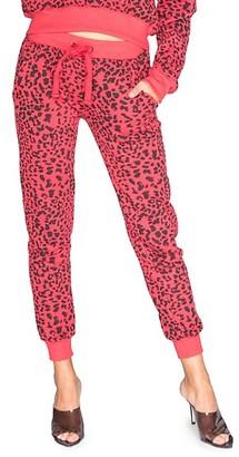 Chrldr Leopard-Print Joggers