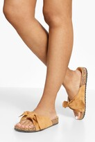 Thumbnail for your product : boohoo Suede Bow Detail Sandals