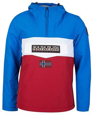 Napapijri Rainforest Half Zip Colour Block Jacket Colour: Blue White R