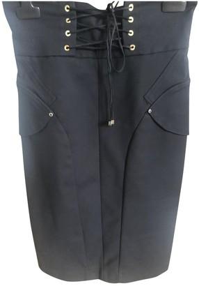 Elisabetta Franchi Black Cotton - elasthane Skirt for Women