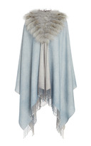 Ama Pure Light Grey Fur Cape