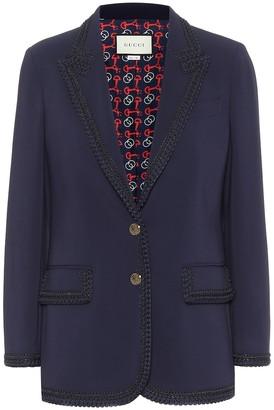 Gucci Ribbon-trimmed cady blazer