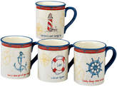 Certified International Coastal Life 18Oz Mugs