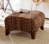 Pottery Barn Seagrass Wingback Ottoman