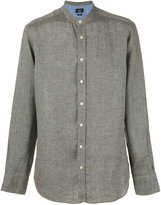 Hackett plain shirt - men - Linen/Flax - S