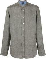 Hackett plain shirt - men - Linen/Flax - S
