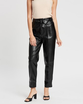 Missguided Belted Seam Detail Cigarette Trousers