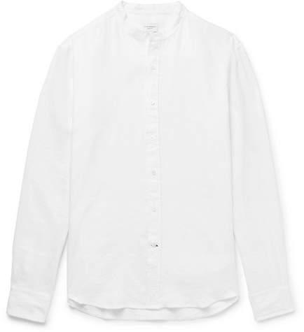 Club Monaco Slim-Fit Grandad-Collar Linen Shirt