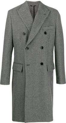 Dolce & Gabbana plaid double-breasted coat