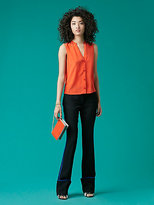 Diane von Furstenberg Sleeveless V-Neck Shirt