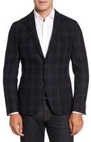 Men's Flynt Classic Fit Windowpane Wool & Cashmere Jersey Sport Coat