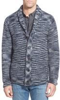 Schott NYC Men's Space Dye Wool Blend Button Cardigan