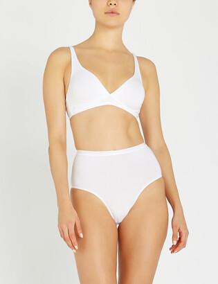 Hanro Sensation soft cup stretch-cotton bra
