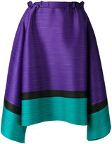 Pleats Please By Issey Miyake - horizontal pleat mid-length skirt - women - Polyester - 3