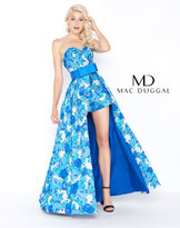 Mac Duggal 79145M Strapless Romper with Overskirt Gown