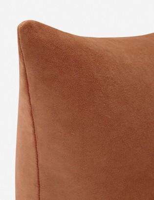 Lulu & Georgia Charlotte Velvet Pillow, Burnt Orange
