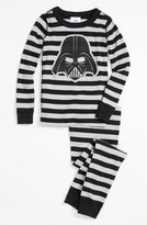 Hanna Andersson Boy's 'Darth Vader(TM)' Fitted Two-Piece Organic Cotton Pajamas