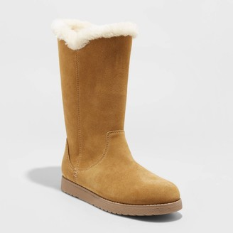 Universal Thread Women's Charleigh Wide Width Tall Shearling Style Boots - Universal ThreadTM 5