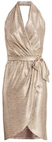 Ramy Brook Maura Metallic Wrap Dress