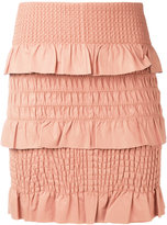 Drome textured skirt - women - Lamb Skin/Polyester/Viscose - S