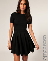 Asos Tailored Short Sleeve Ponti Fit And Flare Dress