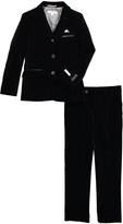 Black Velvet Blazer & Trouser Pants Set - Toddler & Boys