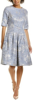 Teri Jon Jacquard A-Line Dress