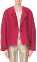Isabel Marant Reversible One-Button Lamb Shearling Coat