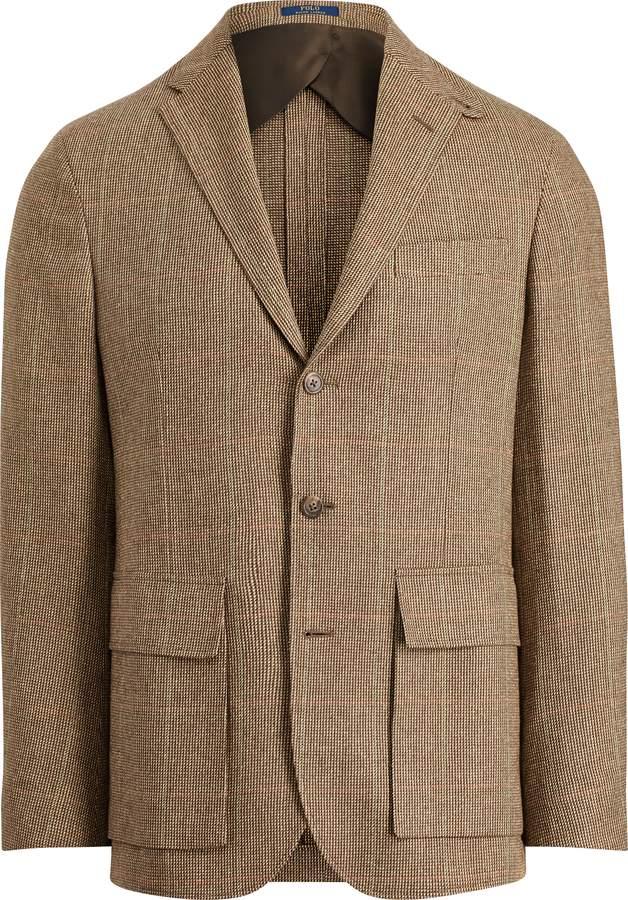 Ralph Lauren Morgan Tick-Weave Suit Jacket